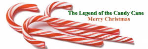 candy cane bookmark Front