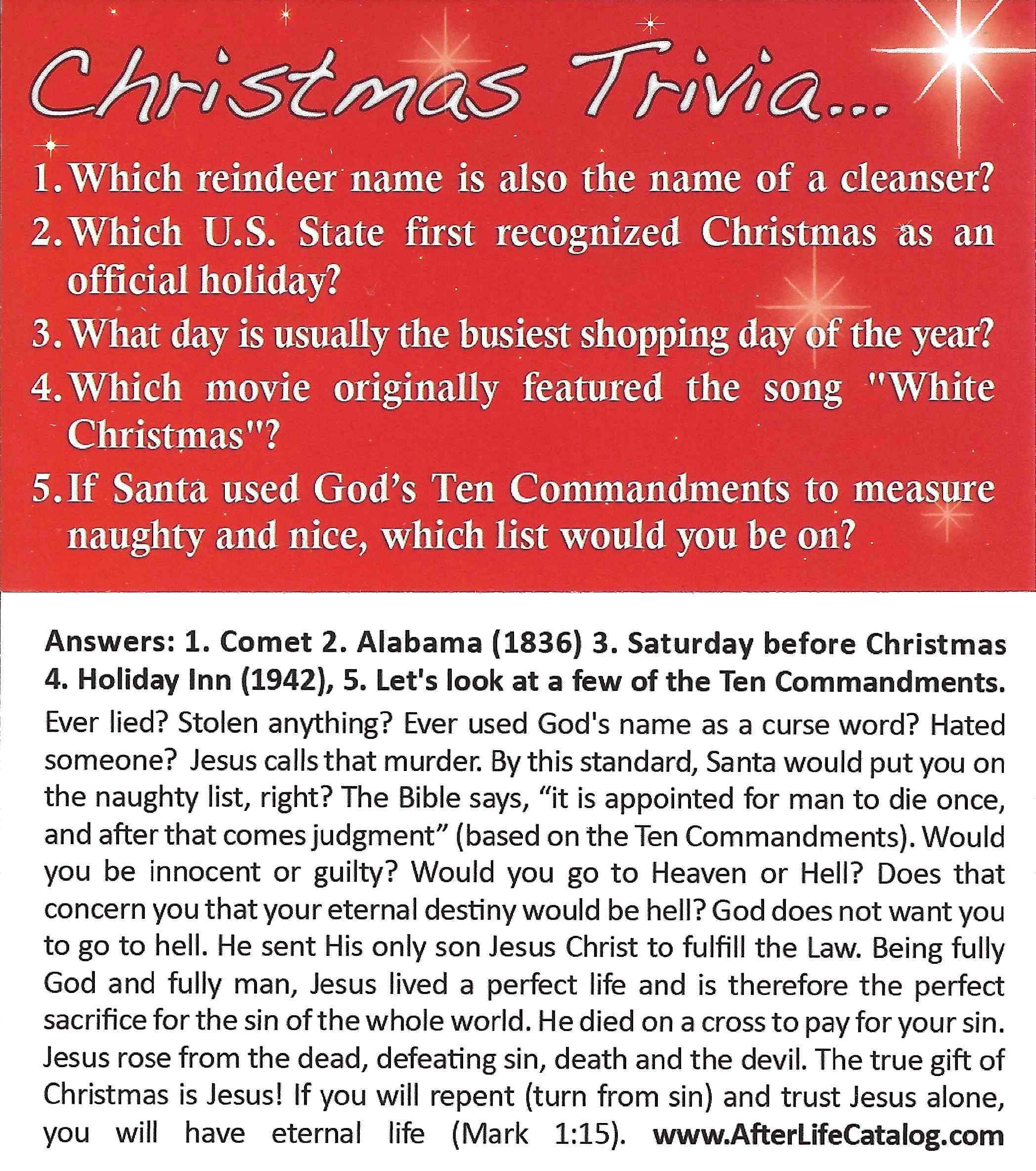 Christmas Gospel Tracts.Tract Images